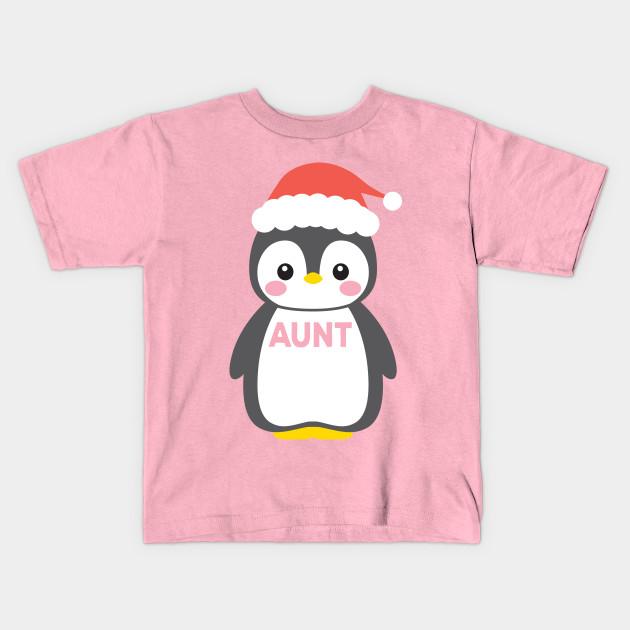 54a5f77887d93 Santa Hat Penguin Aunt Christmas Funny Pajamas Gift - Santa Aunt ...