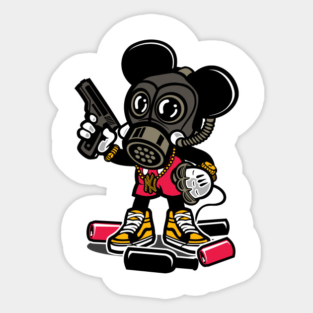 Gangsta Mouse - Mickey Mouse - Sticker | TeePublic