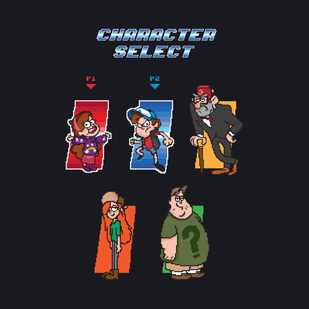 Gravity Falls Character Select