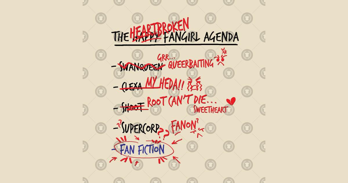 The heartbroken fangirl agenda by manuluce
