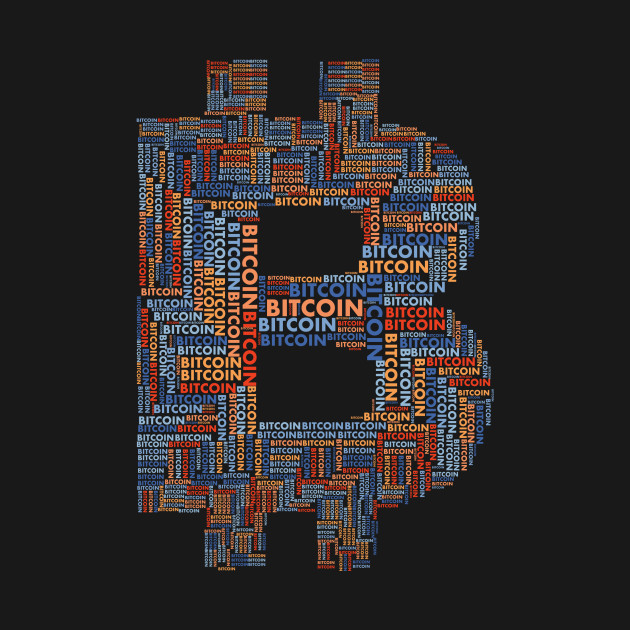 Bitcoin (BTC) Word Cloud Typography