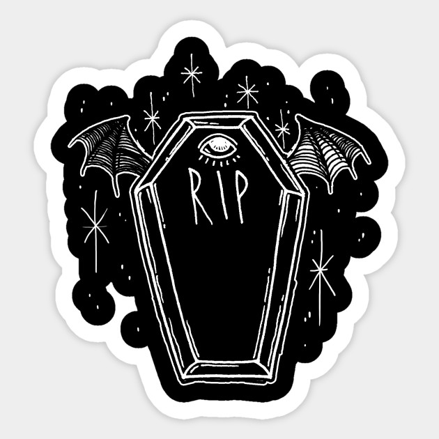 Drop Dead Beauty Coffin Sticker Teepublic