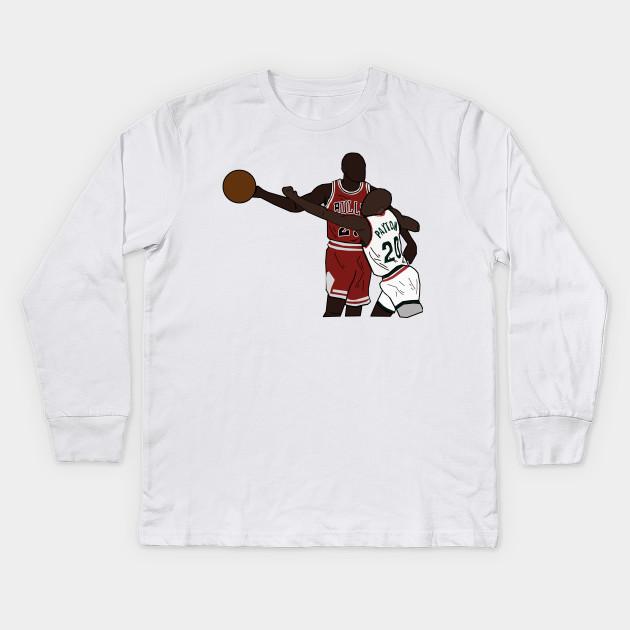 quality design 2db5d 8f873 Michael Jordan One Hand Palm Away From Gary Payton - Chicago Bulls