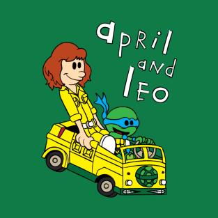 April & Leo t-shirts
