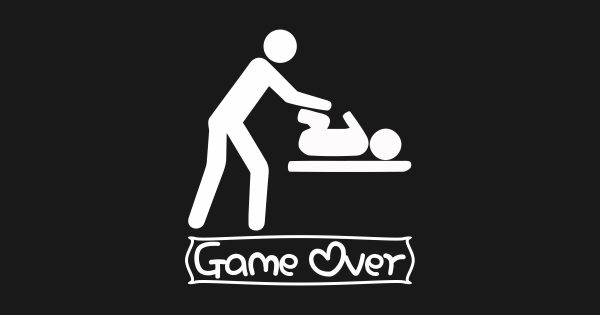 659e5da0 Game Over T-Shirt Expectant Dads To Be Father's Day Gift - Game Over ...