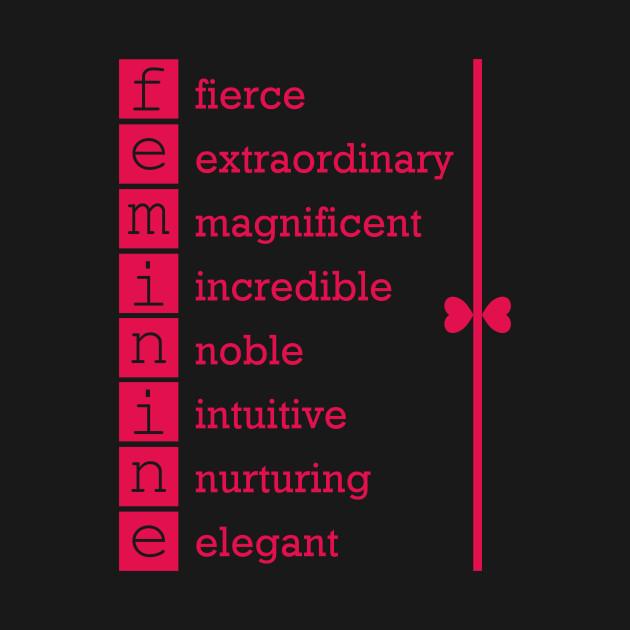 Feminine inspirational words in Hot Pink