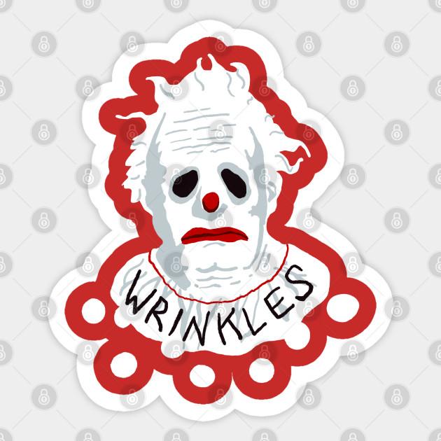 Wrinkles The Clown Wrinkles The Clown Sticker Teepublic