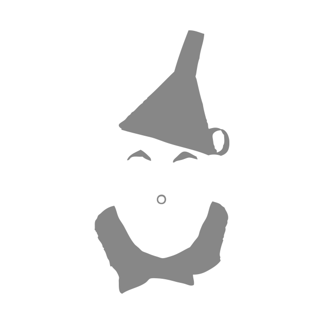 Wizard of Oz Tinman Face Silhouette
