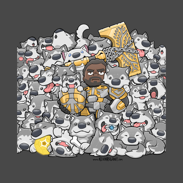 Lord Saladin Wolf Pack Family Portrait