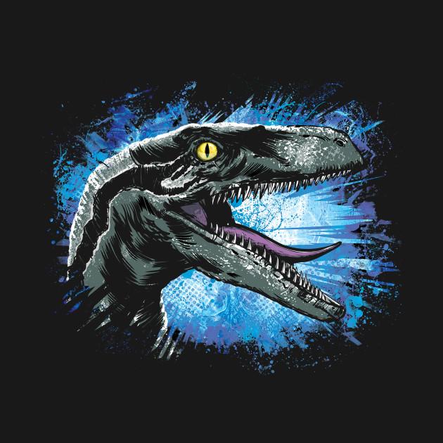 blue raptor jurassic world hoodie teepublic