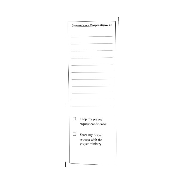 Exclusive Prayer Request Form LIMITED EDITION. Exclusive Prayer Request Form