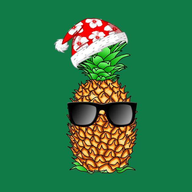 Christmas Pineapple.Tropical Funny Christmas Pineapple