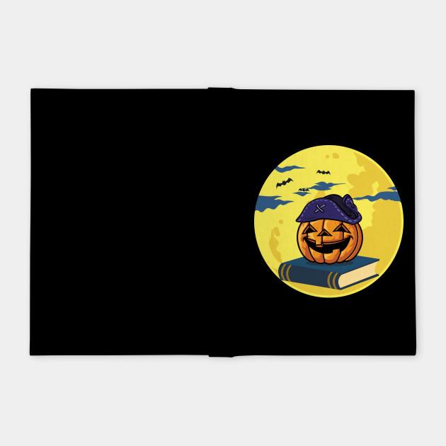 Pirate Teacher Halloween Tshirt Book Apple and Hat Moon Tee