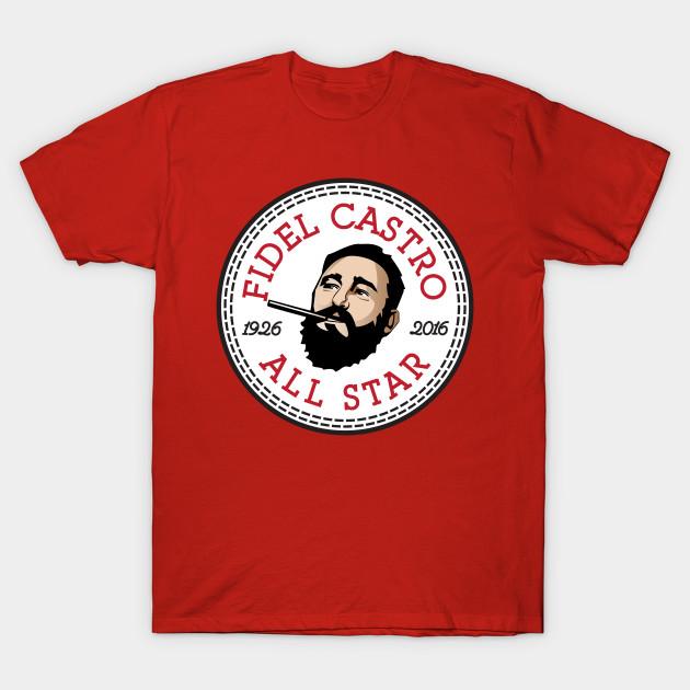 22d9645cec2082 Fidel Castro All Star Converse Logo - Fidel Castro - T-Shirt