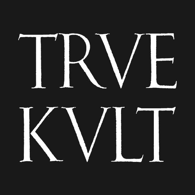 TRVE KVLT GRIM Frostbitten Black Norway Metal Tee
