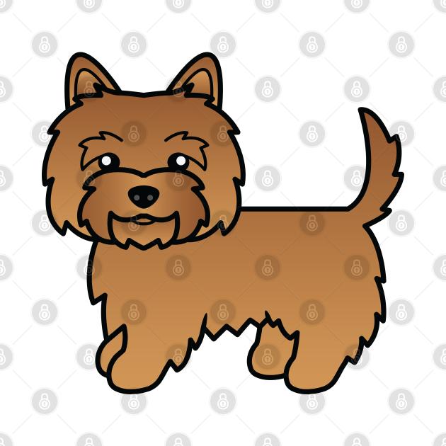 Red Cairn Terrier Dog Cute Cartoon Illustration