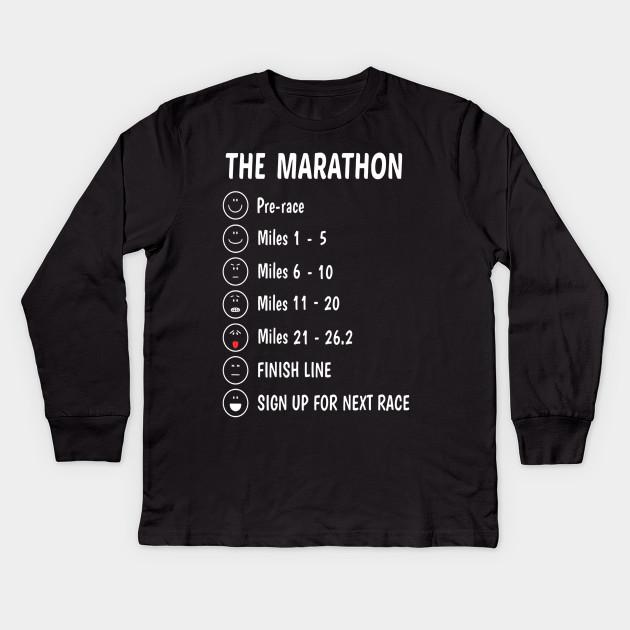 97227dff45d Marathon Running Shirt 26.2 Funny Running Shirt Runner Gift Kids Long  Sleeve T-Shirt