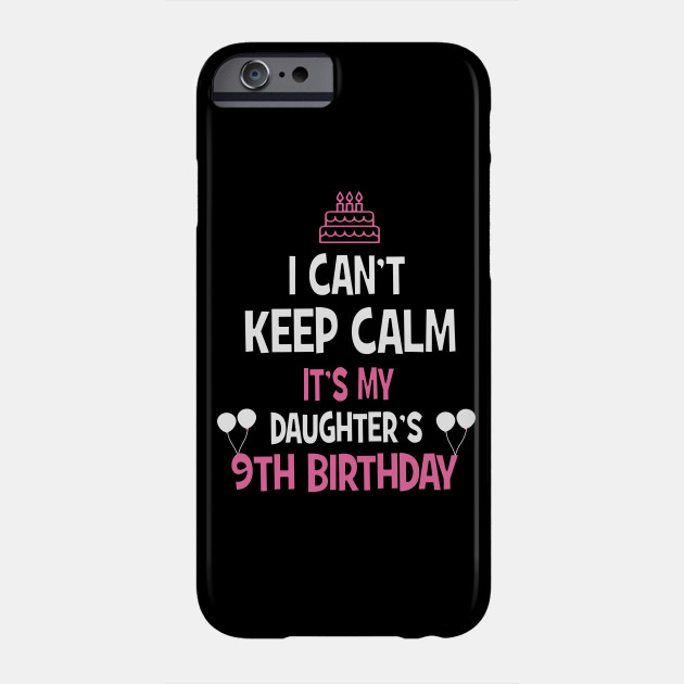 9th Birthday Girl T Shirt 9 Years Old Party Gift Phone Case