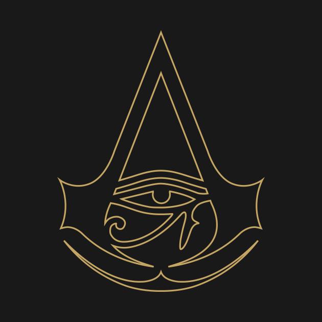 Assassins Creed Origins Gold Logo Assassins Creed T Shirt