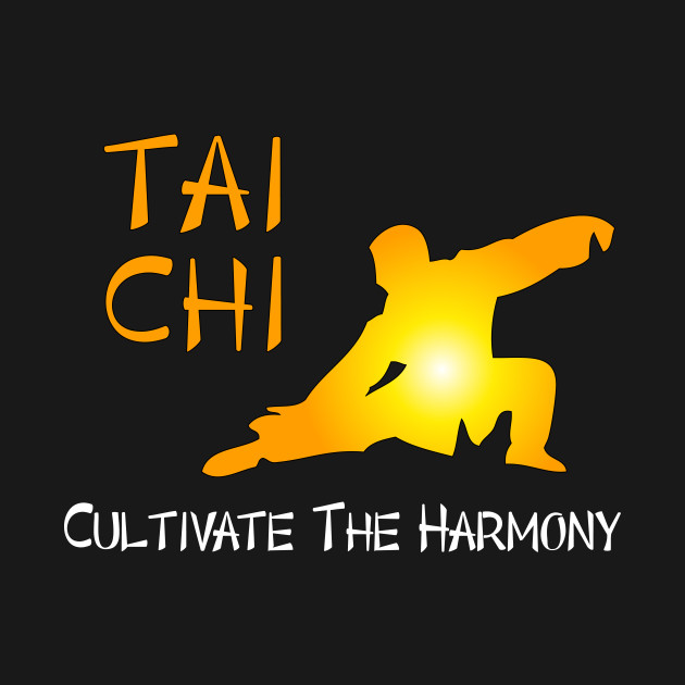 Tai Chi - Cultivate the Harmony (Black background)