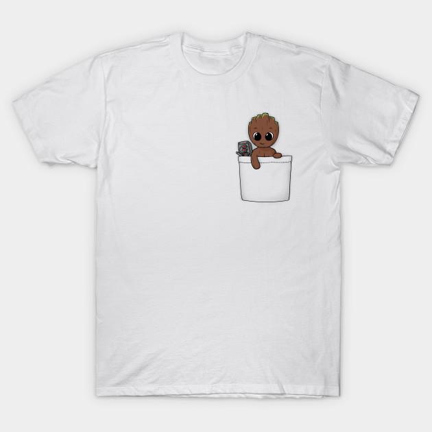 Pocket Baby Groot Baby Groot T Shirt Teepublic