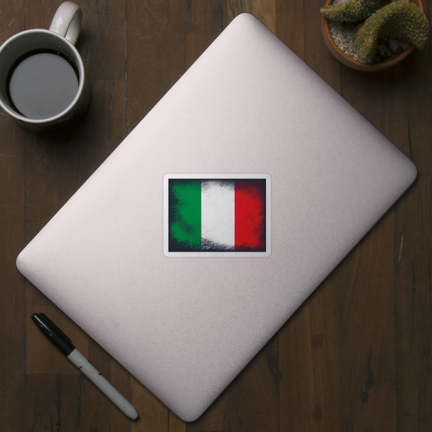 Italy flag isolated