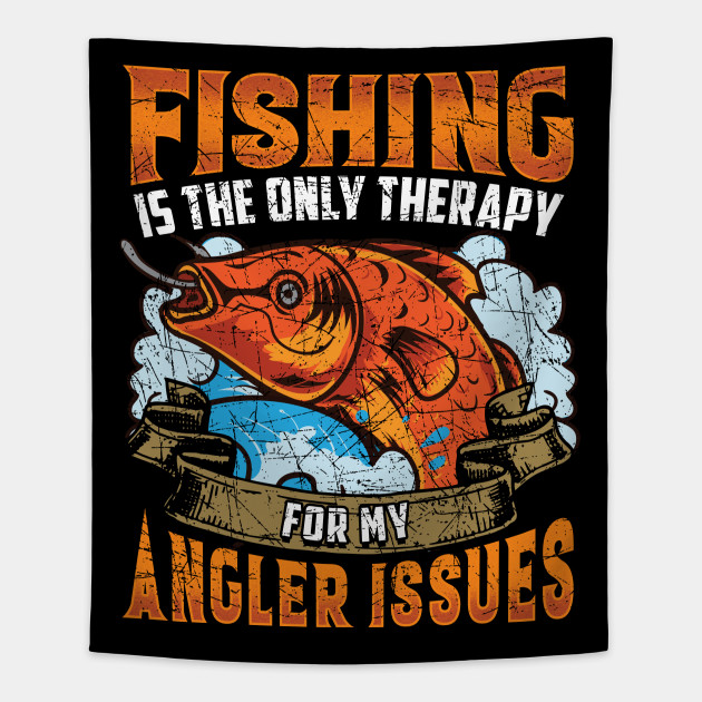 Fishing Therapy Funny Quotes Humor Sayings Gift - Fishing ...