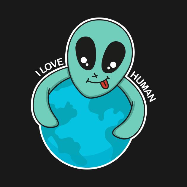 alien love human