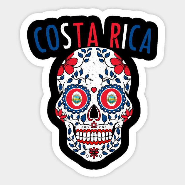 698deab2f Calavera Costa Rica World Cup Team Flag Soccer Jersey Kosta Rika 2018  Sticker