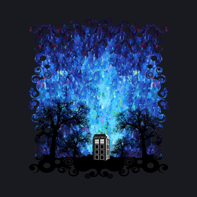 Lonely Blue phone box art painting