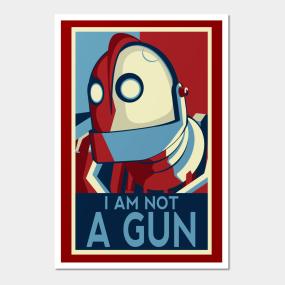 I Am Not A Gun Wall Art
