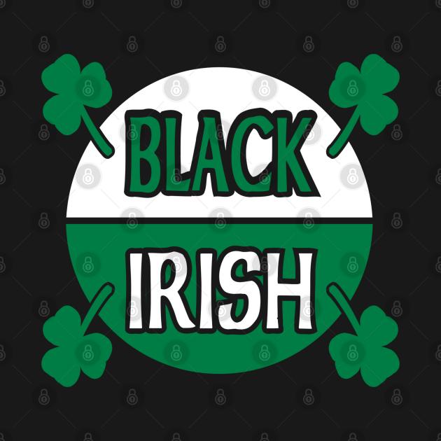 Black Irish With Circle And Shamrocks Baby Shirts.