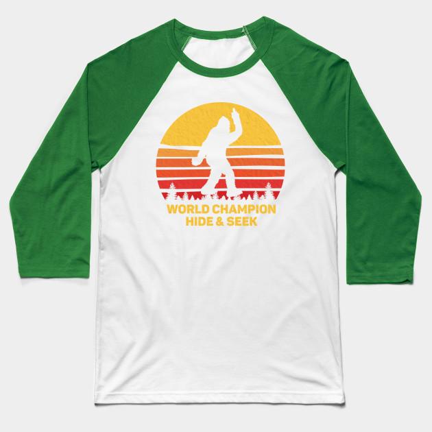 3319062f4f47 RETRO WORLD CHAMPION HIDE and SEEK Bigfoot vintage T shirt Baseball T-Shirt