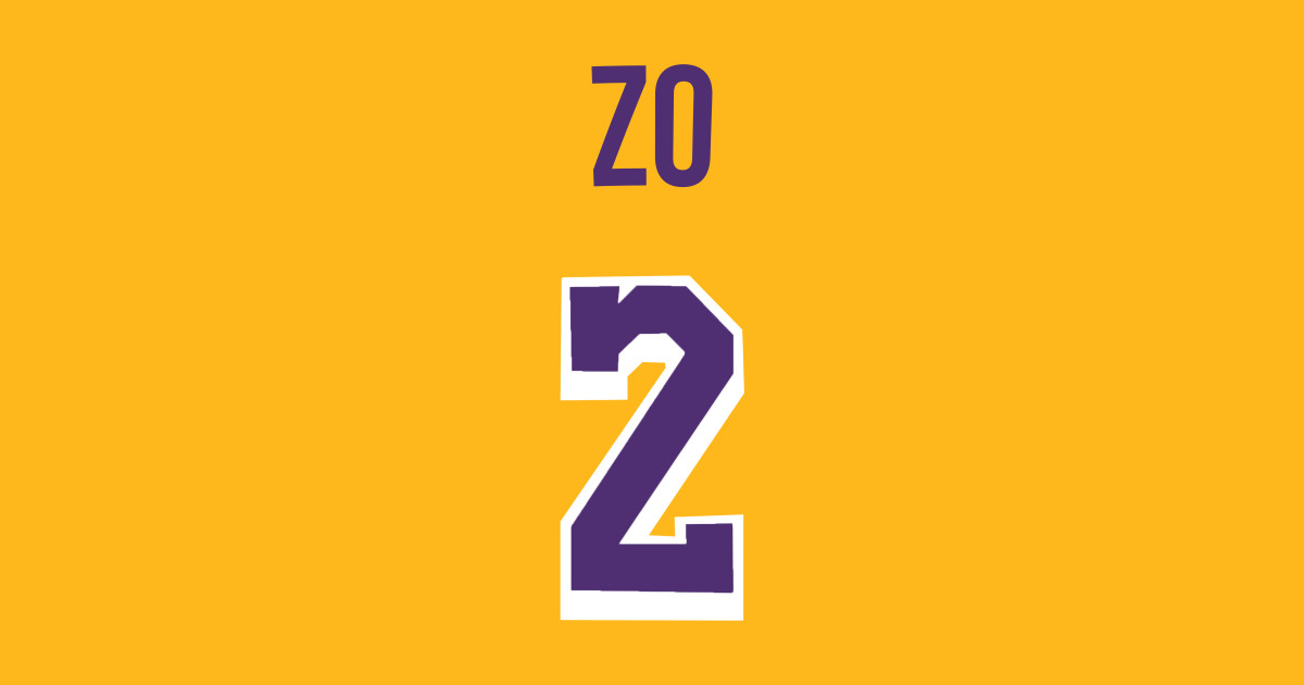 6084ce624daa Lonzo Ball  ZO  Nickname Jersey - Los Angeles Lakers - Nba - Kids T ...