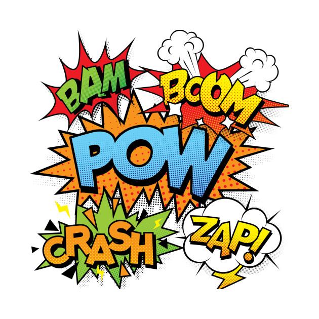 Comic Book Pow Crash Zap Bam Boom