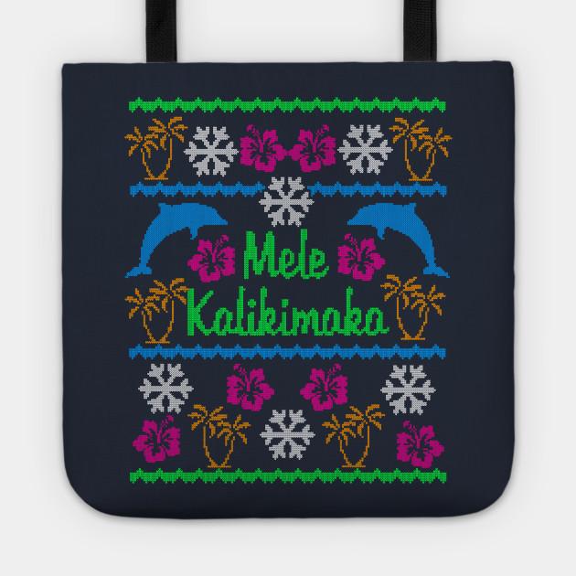 Hawaiian Mele Kalikimaka Ugly Christmas Sweater Party Shirt