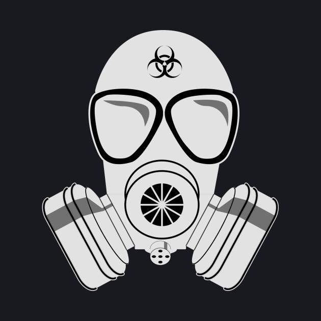 White gas mask
