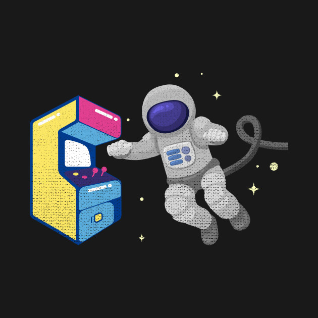 playing video games in space