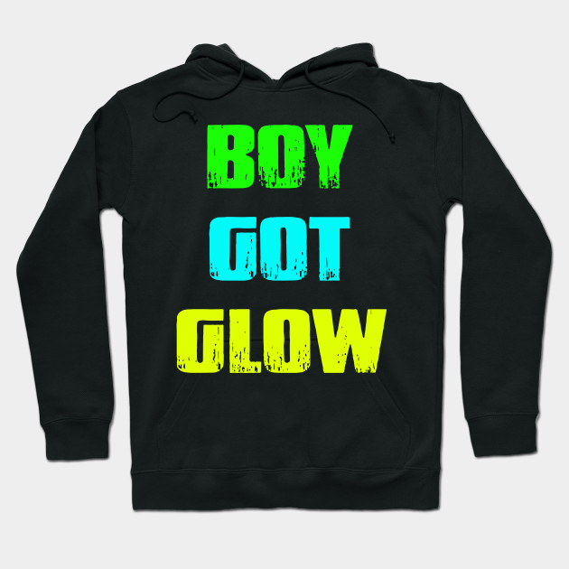 Boy Got Glow Party Shirt Neon 80s Birthday T Shirts Hoodie
