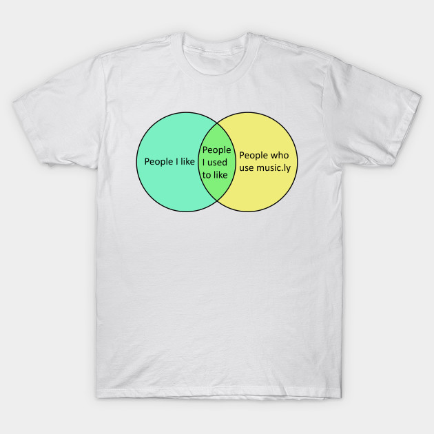 Music Venn Diagram Humour T Shirt Teepublic