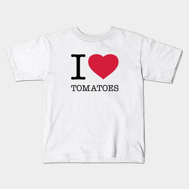 I Love Heart Tomatoes Kids T-Shirt