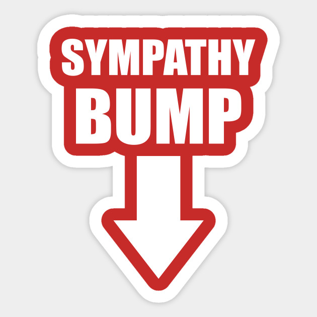 Sympathy Bump New Baby Sticker Teepublic