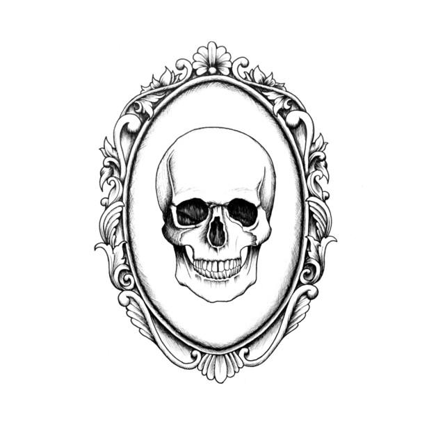 skull frame - Skull - T-Shirt | TeePublic