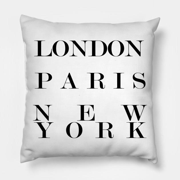 Cuscini Fashion.London Paris New York Fashion Logo Fashion Logos Cuscino