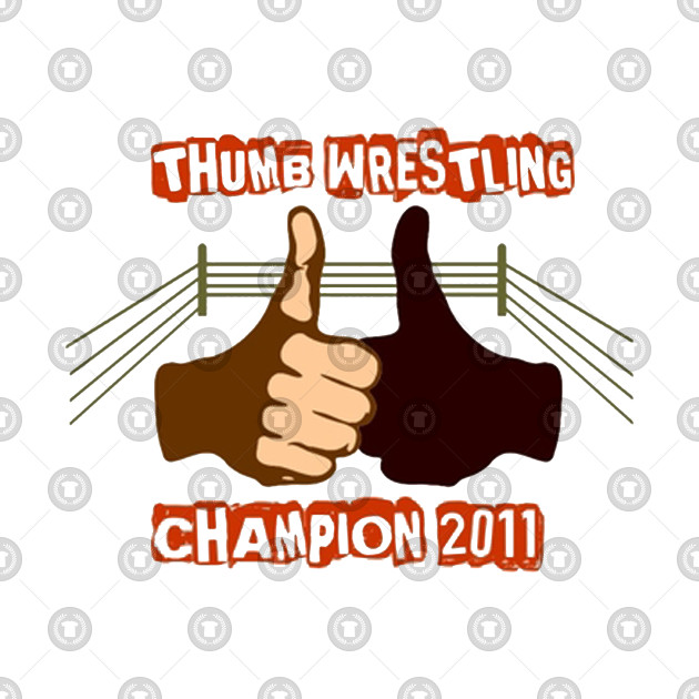 00349407d03f Thumb Wrestling Champion - Thumb Wrestling Champion - Kids T-Shirt ...