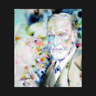 SIGMUND FREUD - watercolor portrait.4 t-shirts