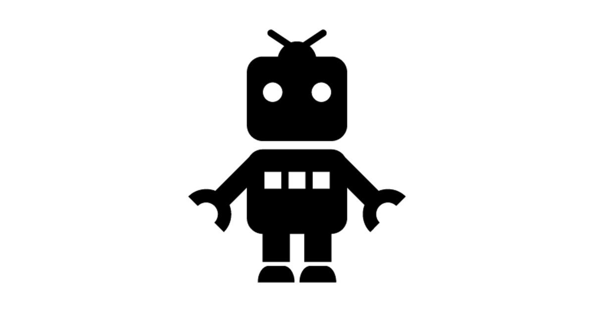Baby Robot Toy Silhouette - Robot - Sticker | TeePublic