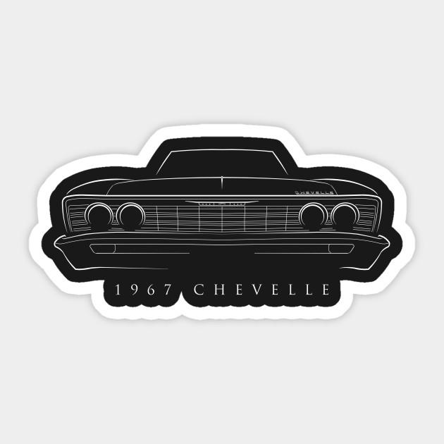 1967 Chevy Chevelle Stencil Chevelle Sticker Teepublic