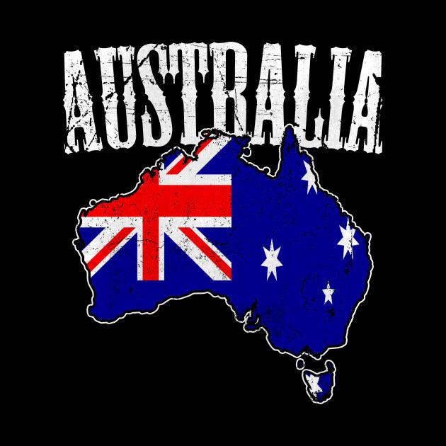 Australia Map With Flag.Australia Map Flag