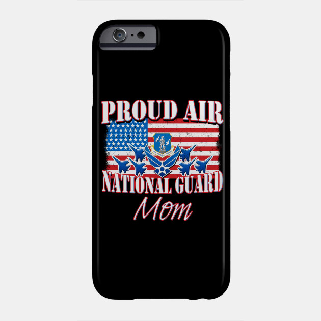 Proud Air National Guard Mom USA Flag Mothers Day Phone Case